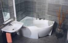 Produktbild: Rosa II Badewanne 170 x 105 rechts weiss Abverkauf / Sonderpreis